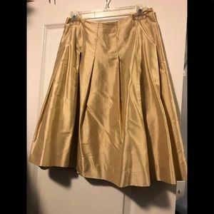 Banana Republic Silk Gold Skirt